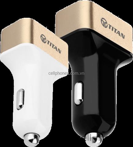 Sạc xe hơi TITAN 4 cổng USB - CellphoneS