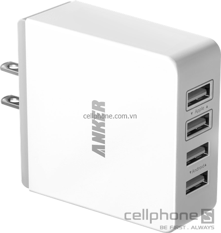 Anker 36W Quad-Port USB Wall Charger - CellphoneS