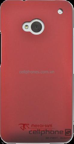 Ốp lưng cho HTC One - Metal-Slim Rubber Case