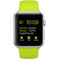 Apple Watch Sport 38 mm Aluminum Case with Green Sport Band - CellphoneS