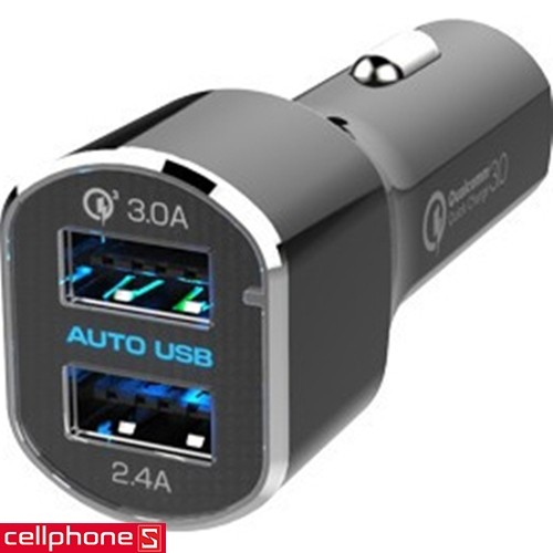 Kashimura AJ-554 DC 5.4 A USB 2 Port Quick Charge 3.0 | CellphoneS.com.vn-0