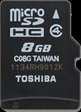 Thẻ nhớ Toshiba microSDHC Class 4 8 GB - CellphoneS-0