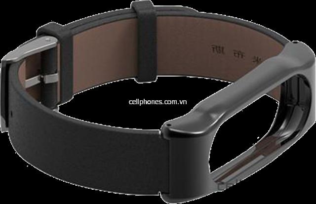 Vòng da Mijobs Leather Wrist Strap cho Mi Band 2 - CellphoneS-0