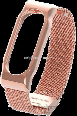 Vòng kim loại Mijobs Metal Wrist Strap cho Mi Band 2 - CellphoneS-1