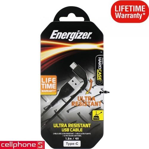 Energizer Ultra Resistant USB-C 1.2 m C41C2AGBKM | CellphoneS.com.vn-1