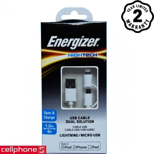 Energizer Hightech 2 in 1 1 m C11UBDUGWH4 | CellphoneS.com.vn-1