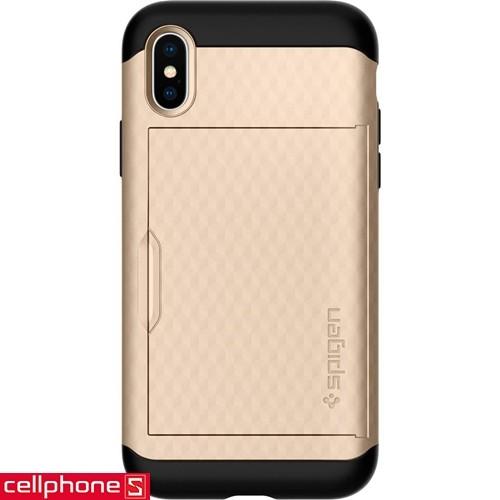 iPhone X Spigen Crystal Wallet Case | CellphoneS.com.vn-1