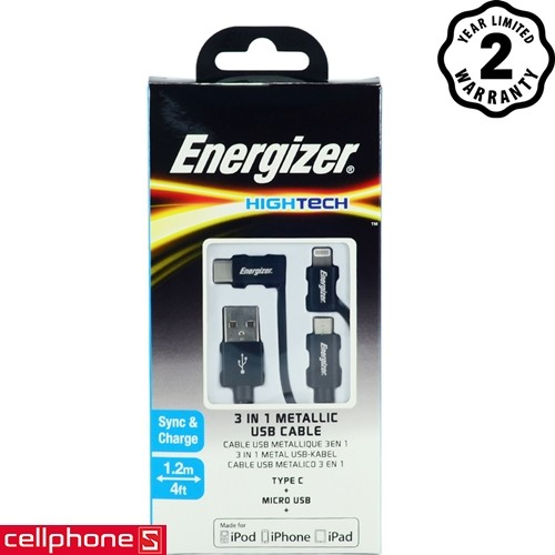 Energizer Hightech 3 in 1 Metallic USB 1.2 m C13UBX3CF   CellphoneS.com.vn-1