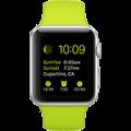 Apple Watch Sport 42 mm Aluminum Case with Green Sport Band - CellphoneS-0