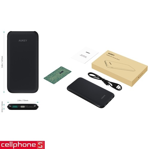 AUKEY PB-N51 10000 mAh Slim   CellphoneS.com.vn-2