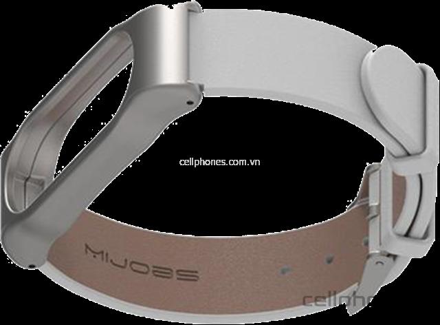 Vòng da Mijobs Leather Wrist Strap cho Mi Band 2 - CellphoneS-3