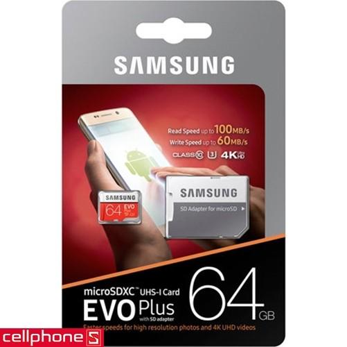 Samsung MicroSDXC EVO Plus 64 GB | CellphoneS.com.vn-5
