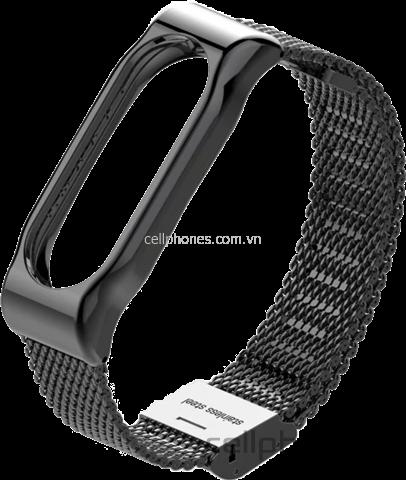 Vòng kim loại Mijobs Metal Wrist Strap cho Mi Band 2 - CellphoneS