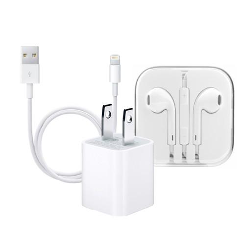 Combo sạc iPhone cáp Lightning tai nghe EarPods - CellphoneS