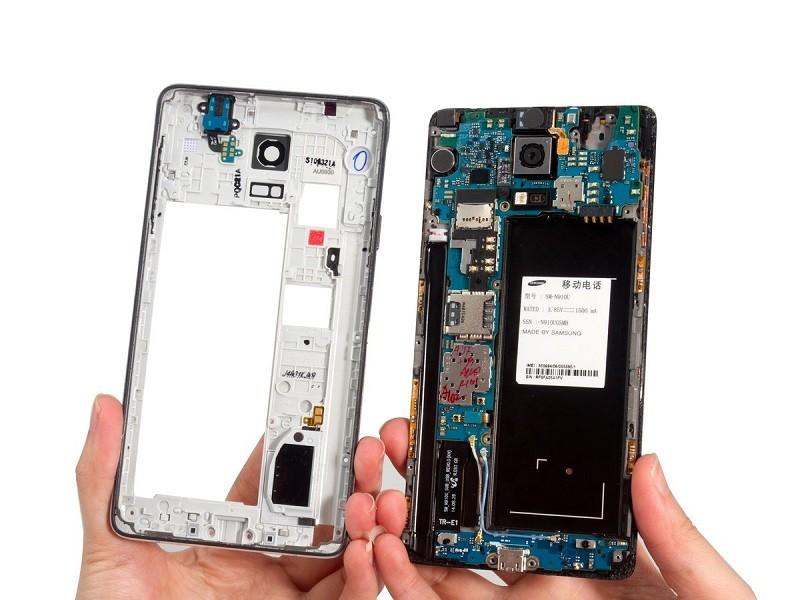 Sửa lỗi hiển thị cảm ứng - Thay ic hiển thị Galaxy Note 4