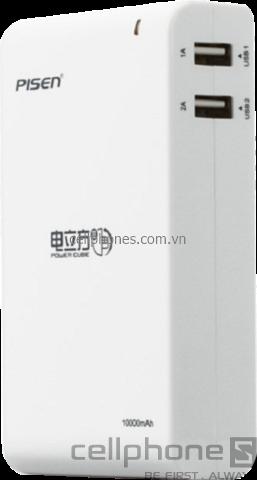 Pin dự phòng Pisen Power Cube IV 10000 mAh - CellphoneS