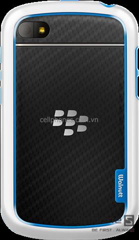 Ốp viền cho BlackBerry Q10 - Zenus Walnutt Bumper Solid