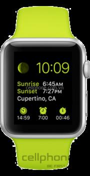Apple Watch Sport 42 mm Aluminum Case with Green Sport Band - CellphoneS