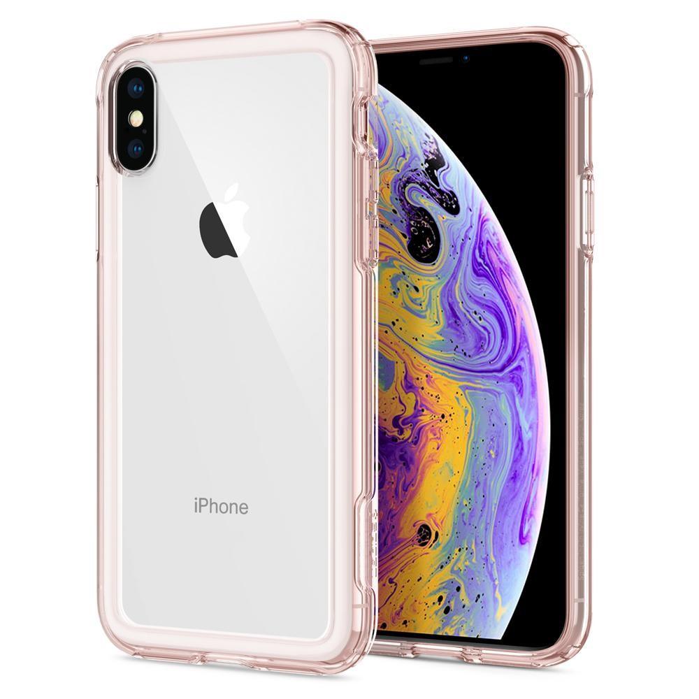 Ốp lưng cho iPhone XS - Spigen Case Crystal Hybrid