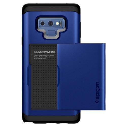 Ốp lưng cho Galaxy Note 9 - Spigen Case Slim Armor CS-Blue