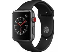 Apple Watch 3 42mm (4G) Viền Nhôm Xám - Dây Đen (MQK22) Chính hãng
