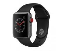 Apple Watch 3 38mm (4G) Viền Nhôm Xám - Dây đen (MQKG2) Chính hãng