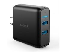 Sạc Anker PowerPort Speed 2 cổng 39W Quick charge 3.0 A2025 Đen