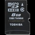Thẻ nhớ Toshiba microSDHC Class 4 8 GB - CellphoneS