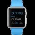 Apple Watch Sport 38 mm Aluminum Case with Blue Sport Band - CellphoneS