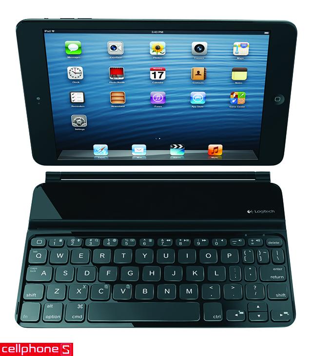 Logitech Ultrathin Keyboard Cover den cho iPad Mini