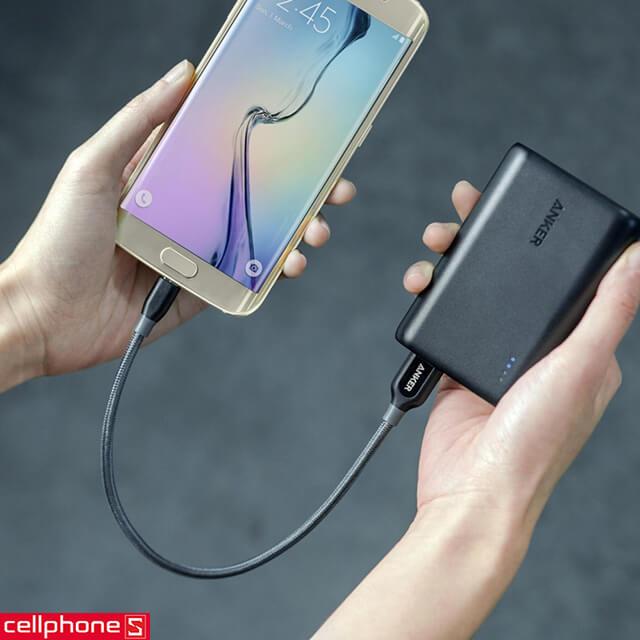 Cáp Anker PowerLine Micro USB 0.3 m