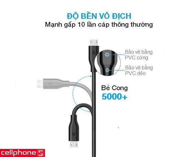 Cáp Anker PowerLine Micro USB 1.8m
