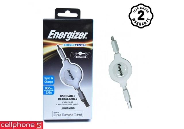 Cáp Energizer Hightech Lightning 80 cm C31UBLIREWH4