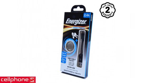 Cáp Energizer Micro USB 8 cm C21UBMCA