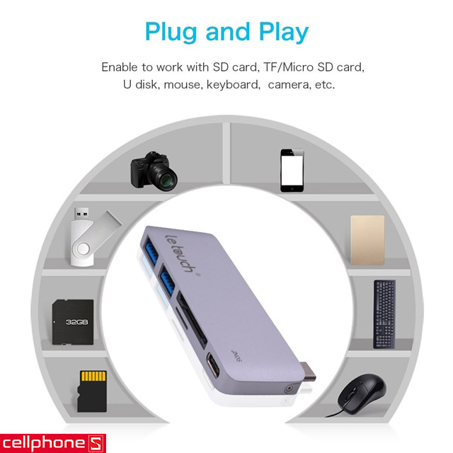 Đầu chuyển Le Touch USB-C Combo Hub 5 in 1