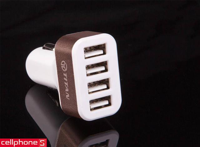 Sạc xe hơi TITAN 4 cổng USB