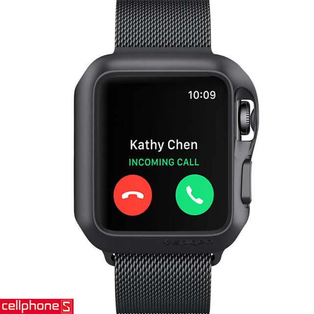 Ốp lưng cho Apple Watch Series 3/2/1 (38mm) - Spigen Slim Armor Case