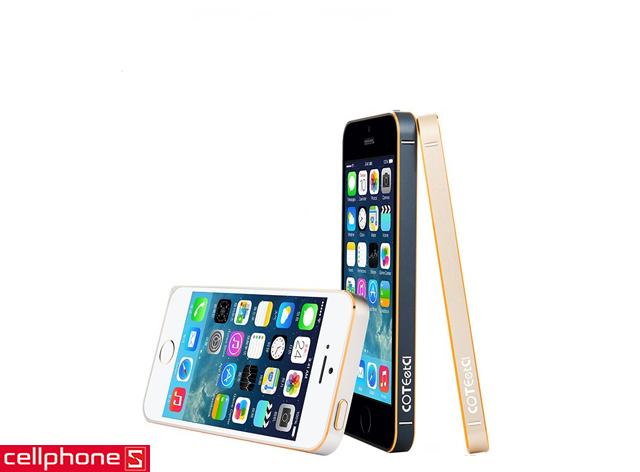 Ốp viền cho iPhone 5 / 5S - COTEetCI Gold Frame