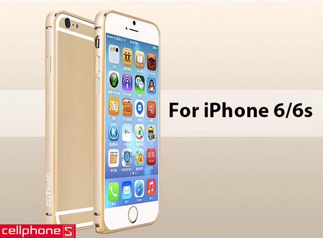 Ốp viền cho iPhone 6 / 6S - COTEetCI Aluminum Rims
