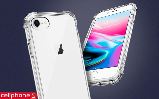 Ốp lưng cho iPhone 8 - Spigen Crystal Shell Case
