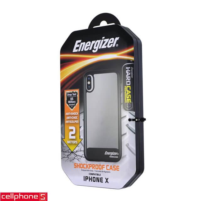 Ốp lưng cho iPhone X - Energizer Hard Case Professional ENCOSPIP8BK