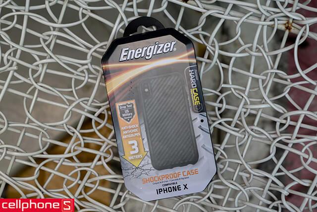 Ốp lưng cho iPhone X - Energizer Hard Case Professional ENCOUL3MIP8CB