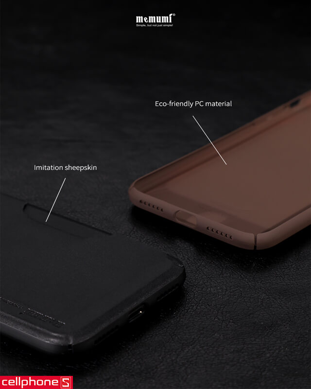 Ốp lưng cho iPhone X - Memumi Leather Card Pocket