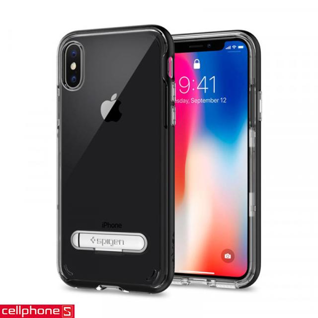 Ốp lưng cho iPhone X - Spigen Crystal Hybrid Case