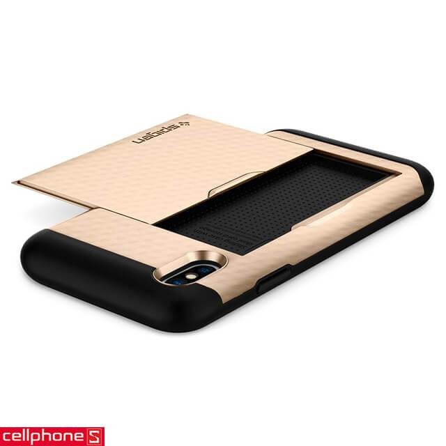 Ốp lưng cho iPhone X - Spigen Crystal Wallet Case