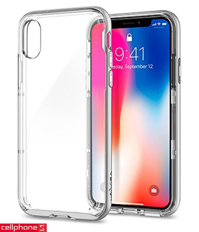Ốp lưng cho iPhone X - Spigen Neo Hybrid