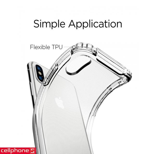 Ốp lưng cho iPhone X - Spigen Rugged Crystal Case