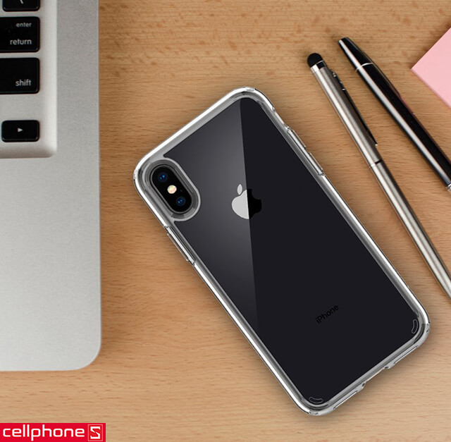 Ốp lưng cho iPhone X - Spigen Ultra Hybrid