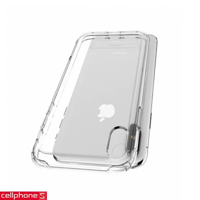 Ốp lưng cho iPhone XS Max - Spigen Case Crystal Hybrid