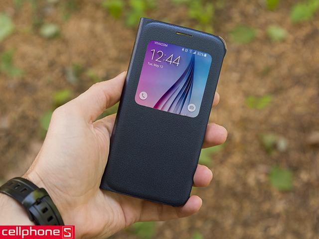 Bao da cho Galaxy S6 - Samsung S View Cover